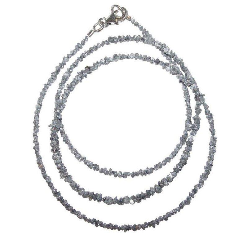 diamant kette zarte kette mit kleinen rohdiamanten in grau. Black Bedroom Furniture Sets. Home Design Ideas