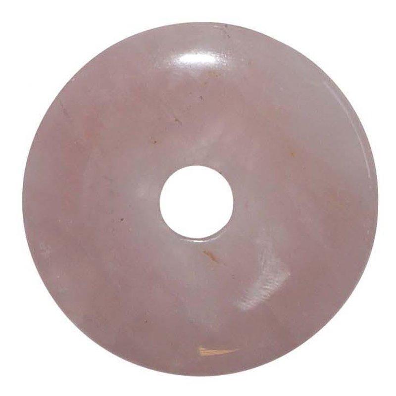 rosenquarz 40 mm donut anh nger rund sch ne rosa farbe 6 90. Black Bedroom Furniture Sets. Home Design Ideas