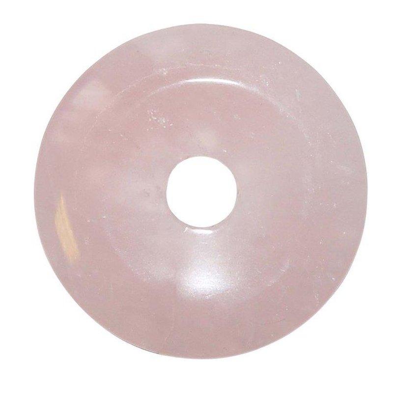 rosenquarz 50 mm donut anh nger rund sch ne rosa farbe 7 90. Black Bedroom Furniture Sets. Home Design Ideas