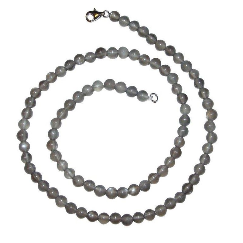 mondstein grau kette kugel 6 mm l nge 45 cm mit 925er silber versch 49 00. Black Bedroom Furniture Sets. Home Design Ideas