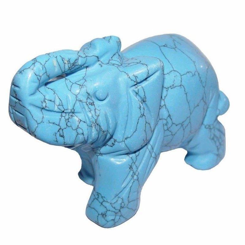 t rkinit xl elefant magnesit coloriert ca 75 x 50 mm als gl cksbrin 22 50. Black Bedroom Furniture Sets. Home Design Ideas