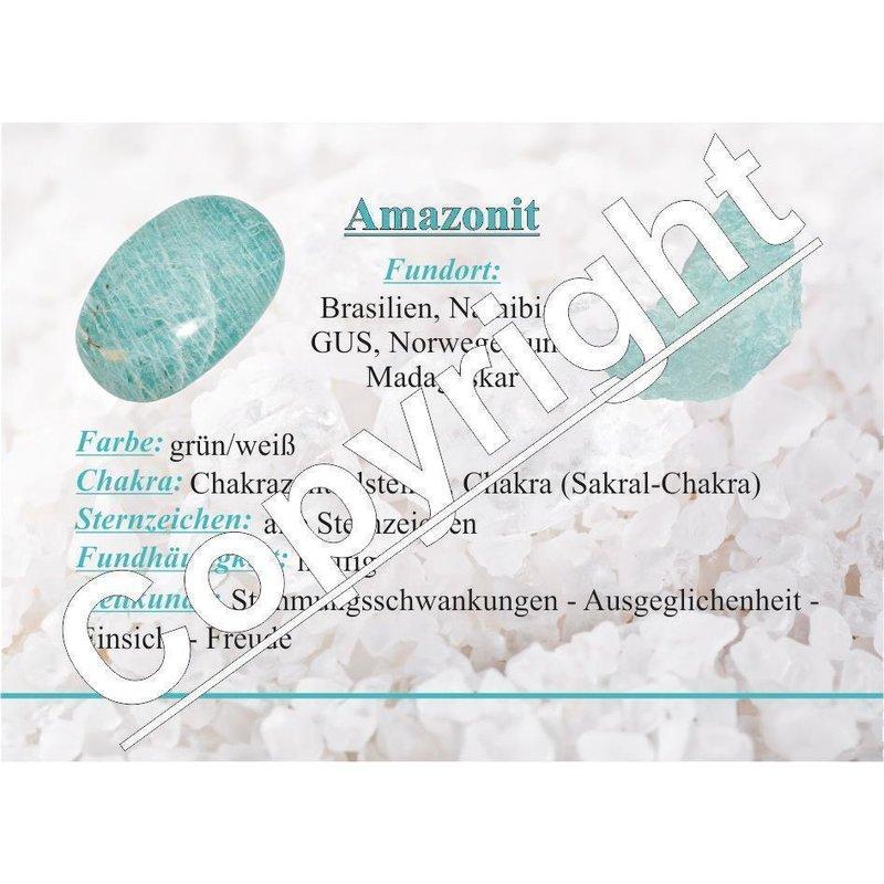 1 Amazonit Trommelstein Taschenstein Handschmeichler