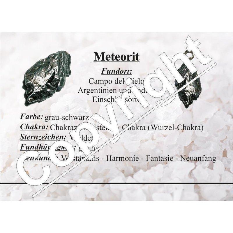 Meteorit Eisenmeteorit Handschmeichler mit Echtheitszertifikat ca ...