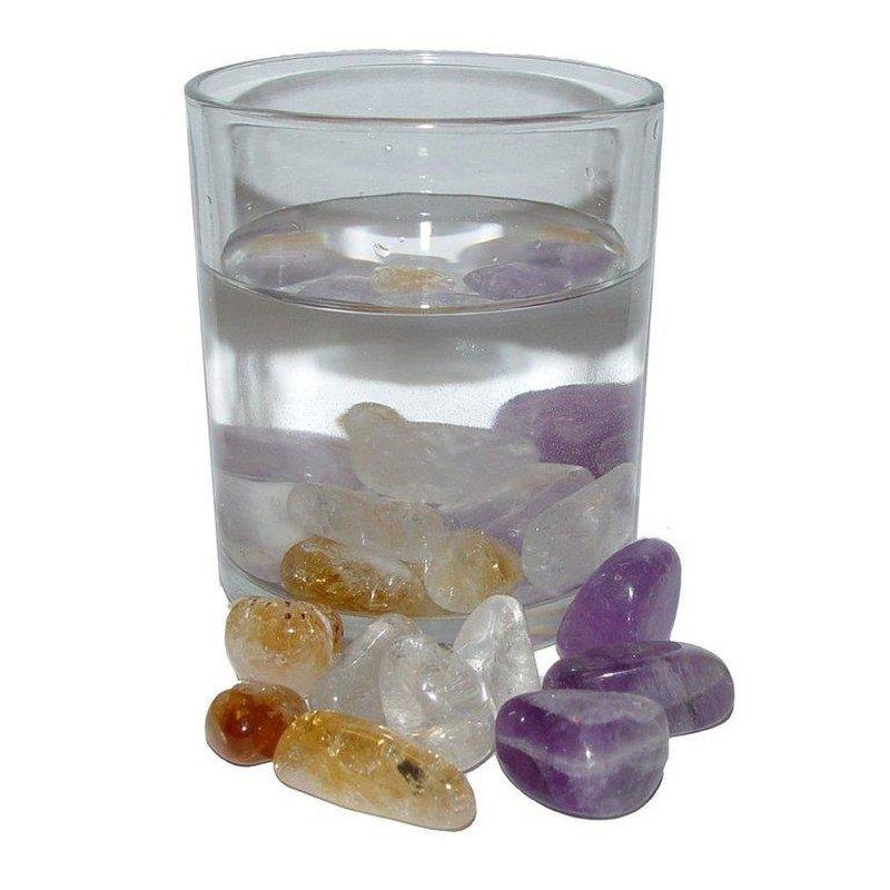 Wassersteine 200 g Trommelsteine Edelsteinwasser Mischung BALANCE