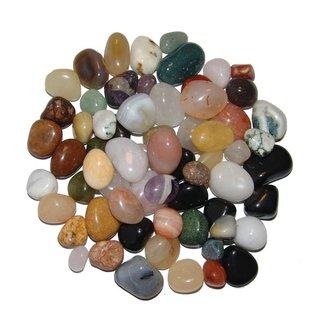 100g Trommelsteine Edelssteine ~  Achat Baumachat 10-30mm Mineralien