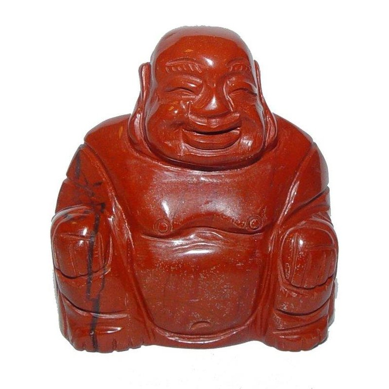 Jaspis Rot Buddha Ca 45 X 50 Mm Happy Buddha Sitzend