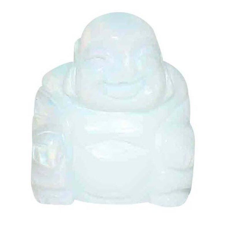Opalith Glas Synthetisch Buddha X 30 Mm Happy