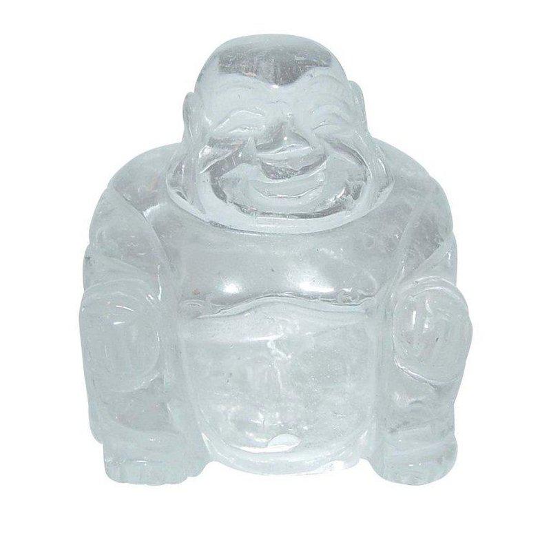 Bergkristall Buddha Ca 45 X 50 Mm Aus Echtem Edelstein