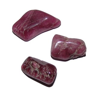 4-7 Gramm Rubelit 3 kleine Trommelsteine ca 0,8-15 mm ca Turmalin rosa rot